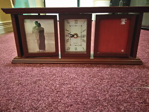 Small Clock with Picture Frames - some wear marks Kitchener / Waterloo Kitchener Area image 1