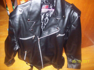 MENS PU LEATHER JACKET NOT WORN