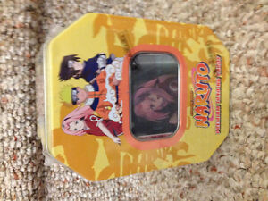 New! Naruto collectible tin with 8 packs of cards & motion card