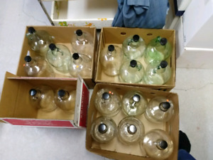 Wine bottles and jugs