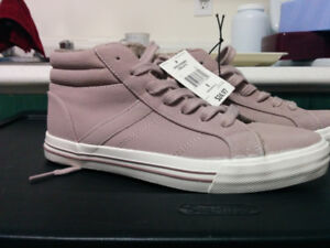 BRAND NEW, Faux Suede Sneakers / Booties - Size 8