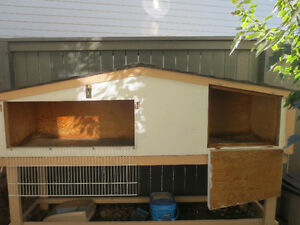 Airdrie RABBIT cage or hutch outside