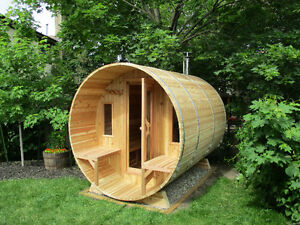 Outdoor Cedar Barrel Sauna's