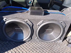 """Kenwood Excelon 12"""" subs & 1000W amp"""