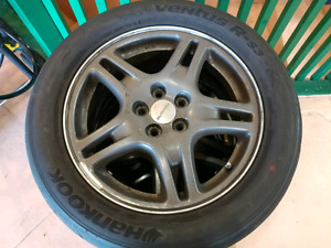 Subaru WRX wheels with 225/50zr16 hankook ventus rs3 tires