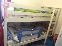 Solid Wooden White Bunk Bed