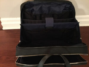 TUMI rolling briefcase/laptop bag with attached suitcase
