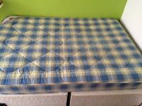 Double divan bed with matress