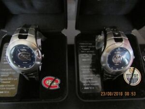 New never been worn,his and hers Oilers watches &Montreal