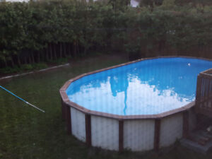 16' x 28' Oval Above ground swimming pool