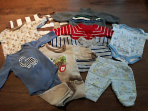 0-3 month baby boy lot 9 pcs