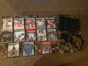 BLACK SLIM PLAYSTATION 3, all accessories and games for sale