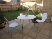 Marks & Spencer white table 4 chairs