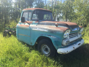 Price Reduced $3000 58 or 59 Chevy Apache 1 ton Truck