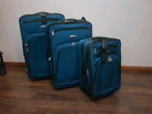 Blue 3 Piece Air Canada Luggage