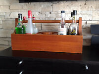 Teak Bar Caddy/ Ice Bucket **VINTAGE Bar/ Sceau a glace en Teck