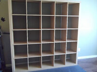 Ikea Kallux shelving unit with 25 display cubes