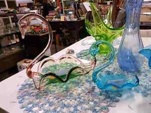 1960S CONTINENTAL GLASS SWANS...CALGARY