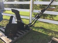 dual stage snow blower