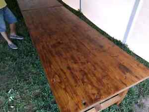 Big harvest style table. Extremely solid, handmade. Peterborough Peterborough Area image 6