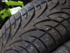 4- studded 235/55r18 Winterclaw Extremnegrip tires ( 80% thread)