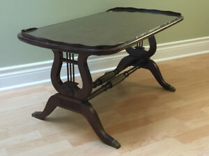 Antique Lyre Harp Coffee Table