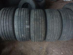four 235 40 19 all season tires plus a free spare. &more R19