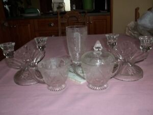 IRIS DEPRESSION GLASS DISHES