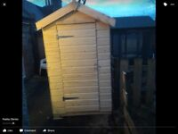 6ft by 4ft ship lap tongue and groove shed