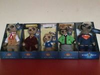 5x Compare the market MEERKAT Toys (With certificates)