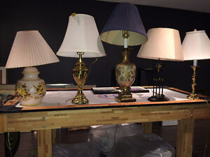 Unique Table & Floor Lamps / Shades in Different Styles $Reduced