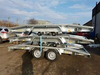 Car transporter trailer, recovery trailer new 13 ft long, 6,5ft wide winch