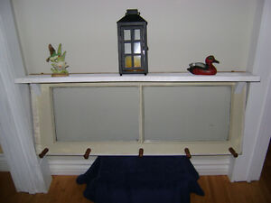 Vintage Window Coat Rack with Shelf Peterborough Peterborough Area image 1