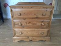 Solid Pine Chest of Drawers/Dressing Table