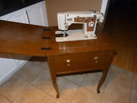 .brothers sewing machine and table