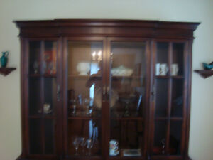 Gibbard mahogany hutch/china cabinet