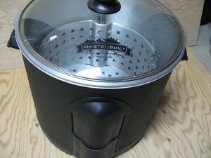 Large electric turkey deep fryer