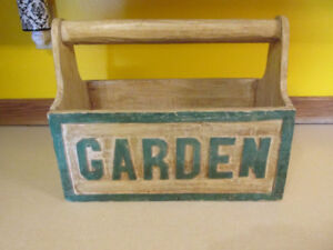 CARVED WOOD GARDEN BOX