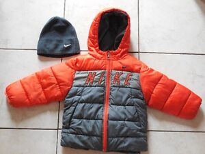 Nike jacket with matching hat Size 2T with winter boots