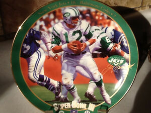 1995 BRADFORD EXCHANGE JOE NAMATH SUPERBOWL III PLATE London Ontario image 1