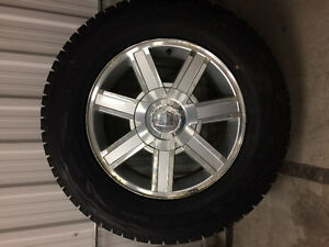 18x8 6x5.5 rims 265/65/18 tires Cadillac escalade