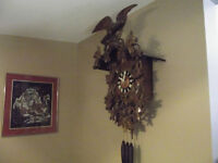BIG AND BEAUTIFUL HAND CRAFTED CUCKOO CLOCK
