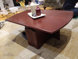 Coffee and end table, oak