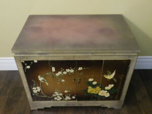 Chinese Themed Lacquer Accent Cabinet