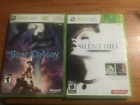 Xbox 360 silent hill and blue dragon for sale