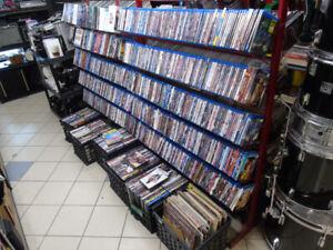 Des centaines de cds,  dvds et blu-rays!