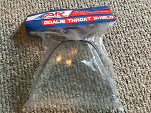 Goalie neck protector clear plastic style