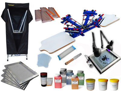 Silk Screen Printing Bundle Machine 4 Color Silk Screen Printing T-shirt Press