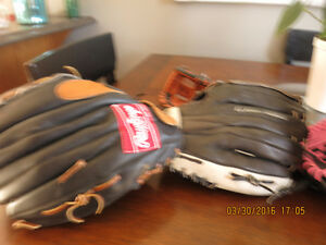 Mans left hand 13 rawlings softball glove
