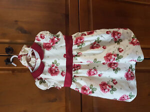 18 to 24 month girls dress with diaper ruffle.